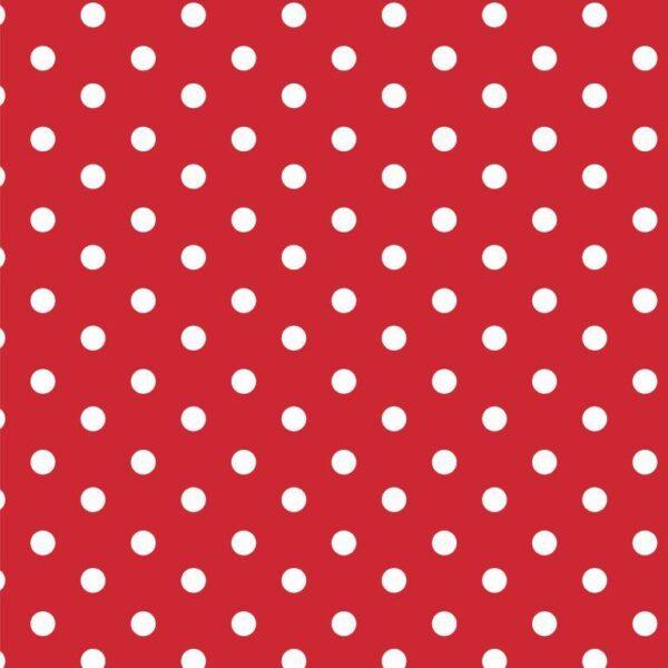 Cotone a pois Rosso e Bianco