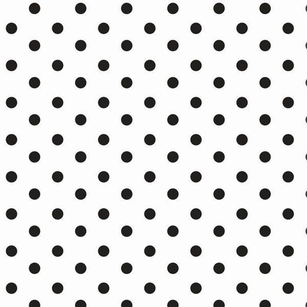 Cotone A Pois Bianco E Nero
