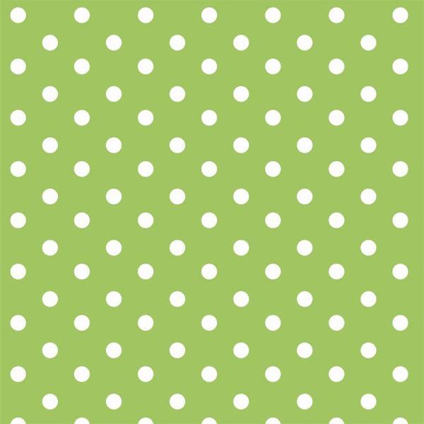 Tessuto di Cotone a pois Verde Lime e Bianco