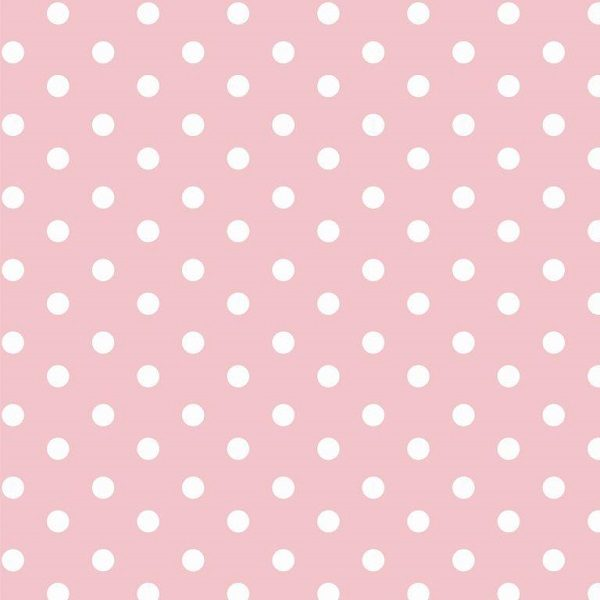 Cotone A Pois Rosa Chiaro