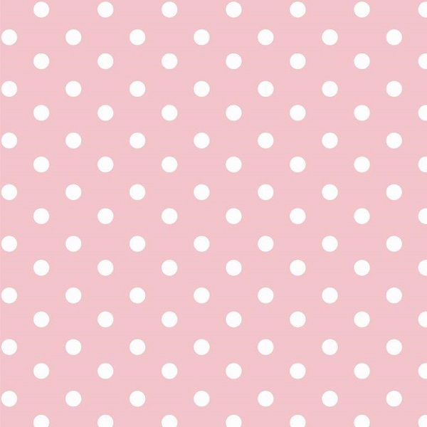 cotone pois rosa