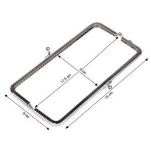 Dimensioni Chiusura per pochette rettangolare 5x18 cm