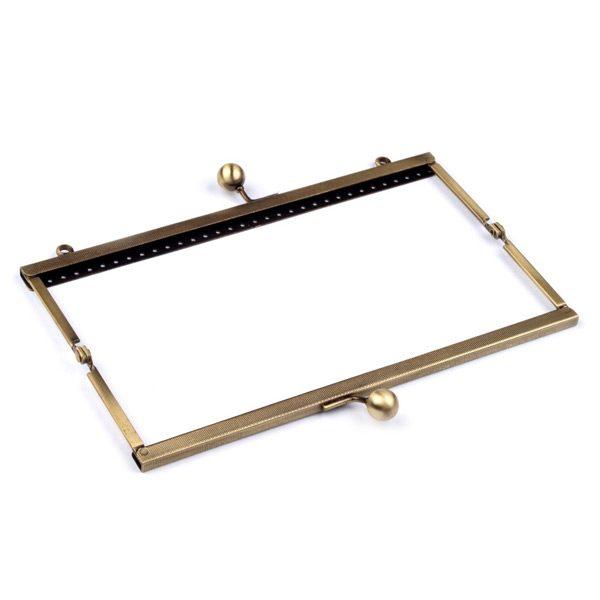 Chiusura per pochette rettangolare 6x20 cm - struttura aperta