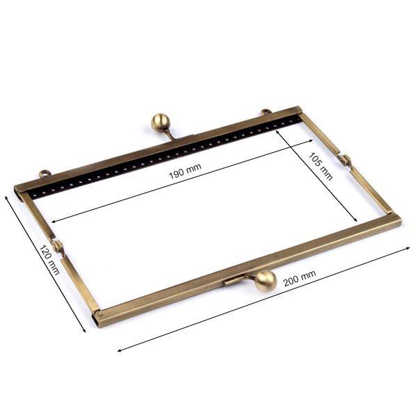 Dimensioni Chiusura per pochette rettangolare 6x20 cm