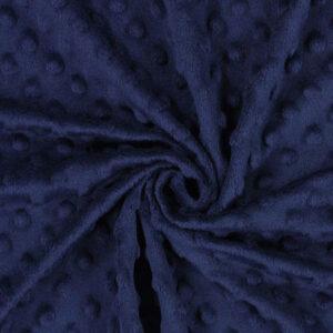 Tessuto Minky Dot Navy pile