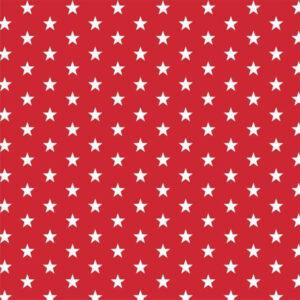 Tessuti online con stelline rosso e bianco