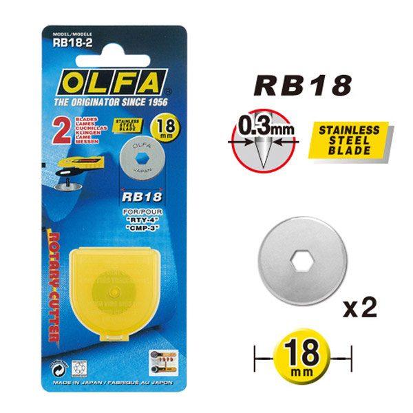 Lama per taglierina rotante da 18 mm - Olfa RB28