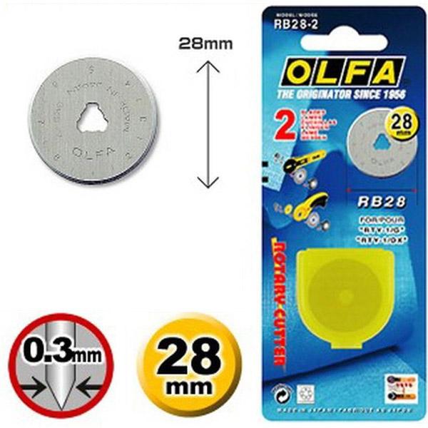 Lama per taglierina rotante da 28 mm – Olfa RB28