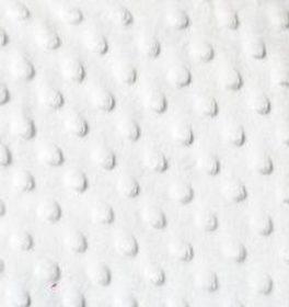 Tessuto Minky Dot Bianco