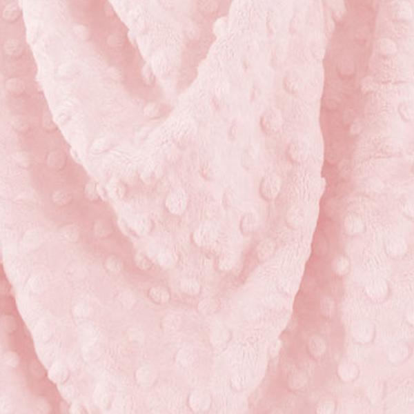 Tessuto Minky Dot Rosa