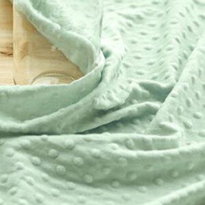 Tessuto Minky Dot Verde Menta Chiaro steso