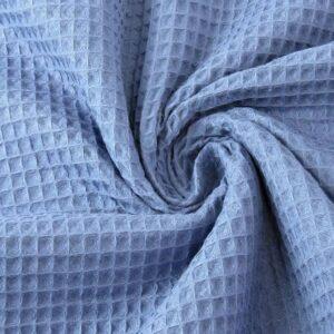 Tessuto cotone nido d'ape blu jeans