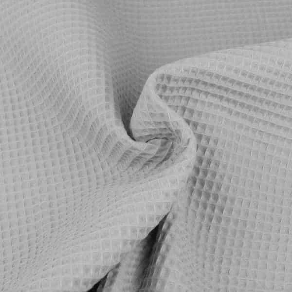 Tessuto cotone nido d'ape grigio chiaro