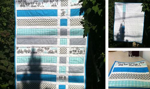 Un esempio di Quilt Fancy realizzato con tessuti americani