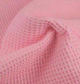 Tessuto cotone nido d'ape rosa
