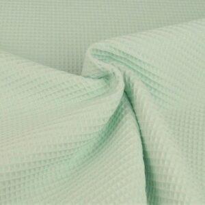 Tessuto cotone nido d'ape Verde menta chiaro