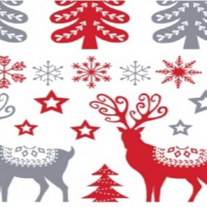 Cotone natale Scandi Stags