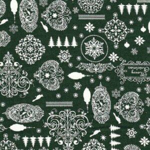 tessuto natalizio verde