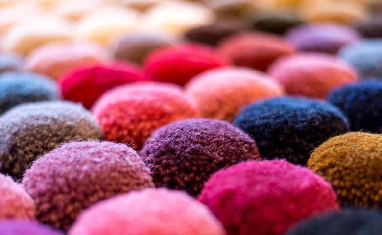 Scampoli di tessuto in lana