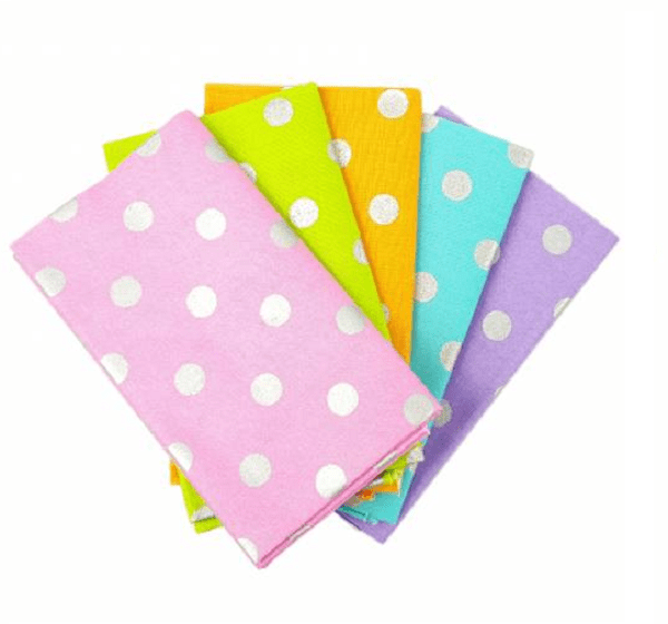 Fat quarter a pois metallici
