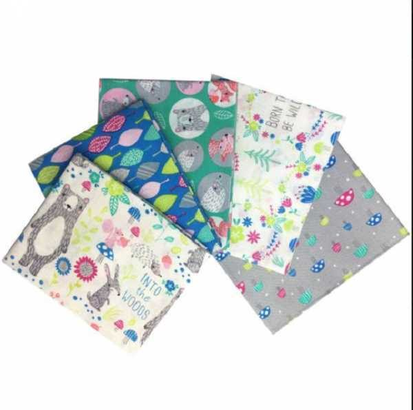Fat Quarters White Forest
