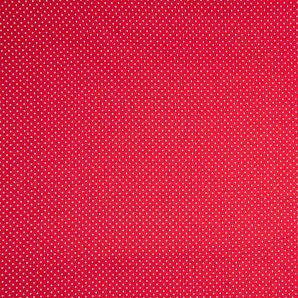 Jersey di Cotone a Pois Rosso e Bianco