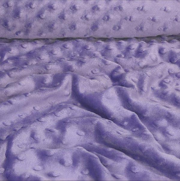 tessuto minky dots viola pile peluche