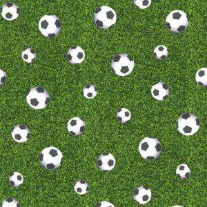 Cotone Canvas con Palloni da Calcio