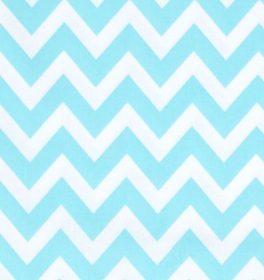 Cotone americano Remix Chevron Blu Acqua