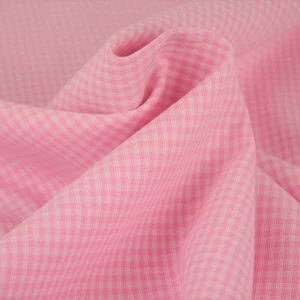 Tessuto a quadretti rosa e bianco