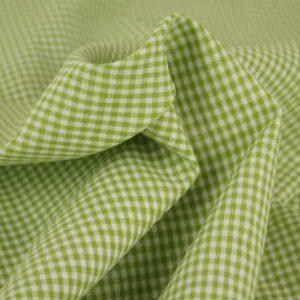 cotone quadretti verde lime e bianco