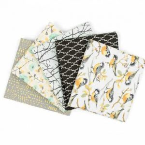 Fat Quarters Songbird White