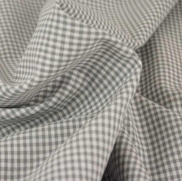 Tessuto a Quadretti Grigio e Bianco