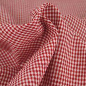 Tessuto a Quadretti Rosso e Bianco