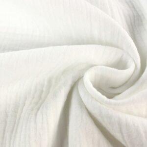 Mussolina Doppia Garza Bianco