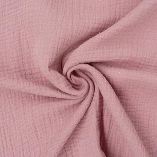 mussolina organica rosa antico