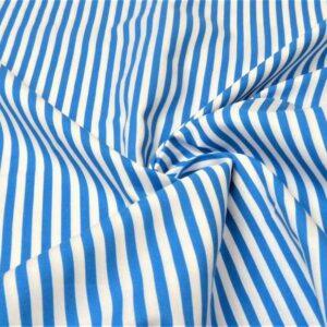 Cotone a Righe blu acqua e bianco