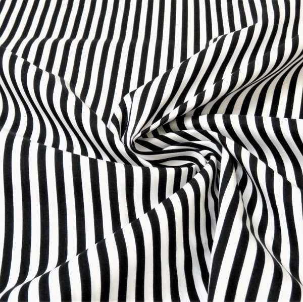 Cotone a Righe nero e bianco