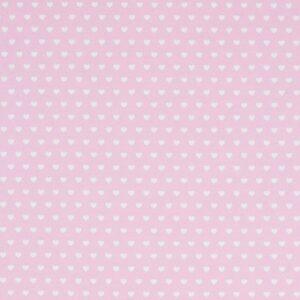 Cotone Canvas Rosa con Cuoricini