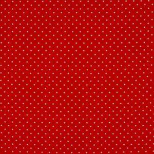 Cotone mini pois rosso