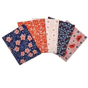 Fat Quarters Floral Navy