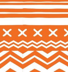 Cotone americano Arancione Etnic Geometric