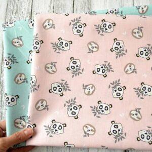 Cotone Rosa con Panda