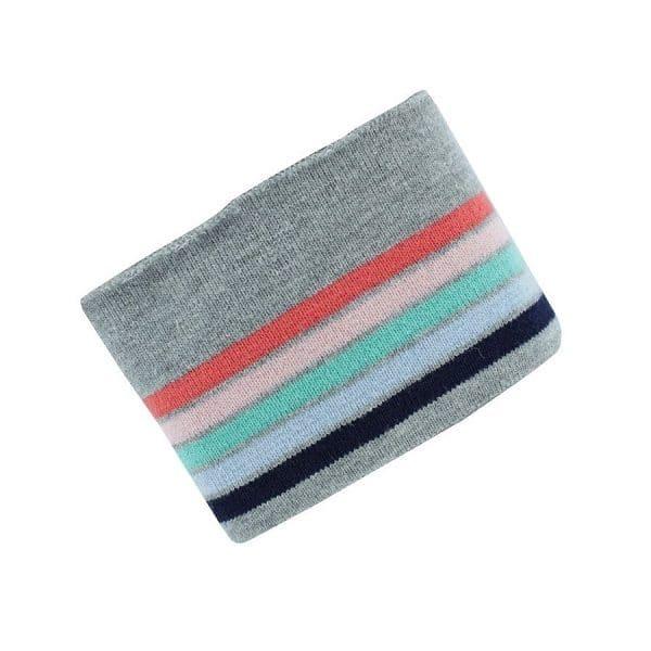Tessuto per Polsini, collo e girovitaGrigio a righe Colorate