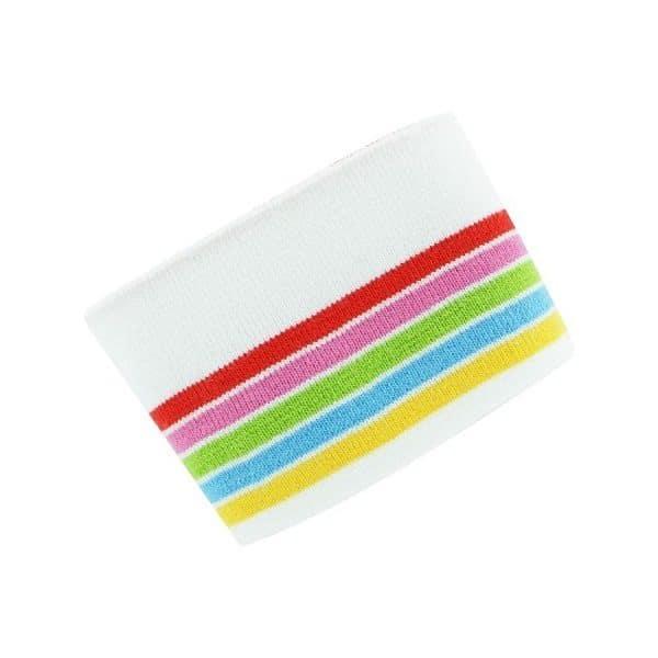 tessuto per polsini panna a righe colorate