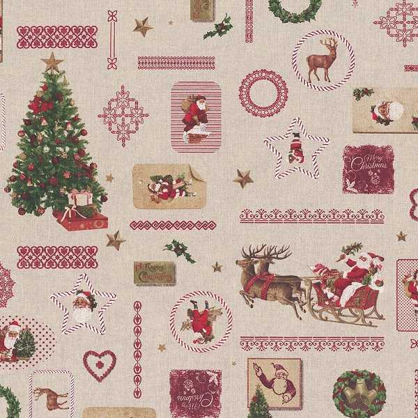 Canvas Natalizio Christmas Santa
