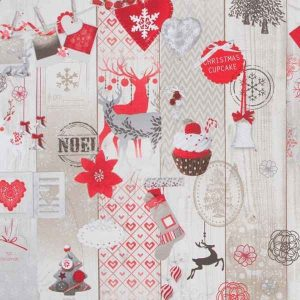 Cotone Canvas Natalizio Christmas Deer