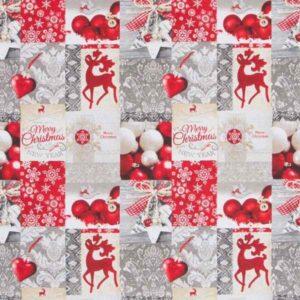 Cotone Canvas Natalizio Mery Christmas