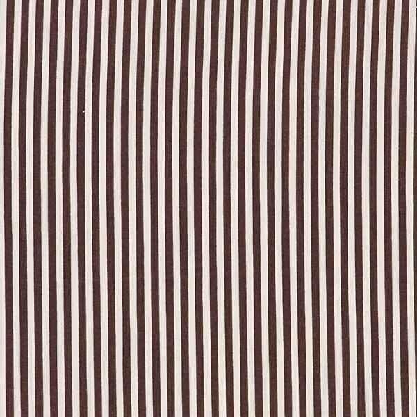 Cotone Canvas a Righe Nero e Beige