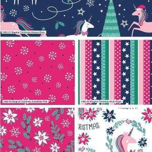 Fat Quarter Natalizio Magical Christmas